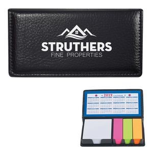 Leather Look Case Of Sticky Notes With Calendar